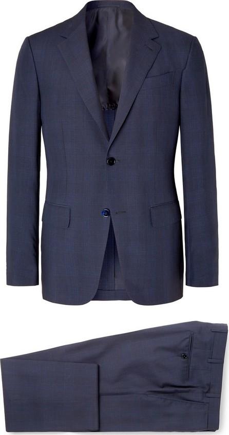 Ermenegildo Zegna Navy Slim-Fit Checked Wool and Silk-Blend Suit