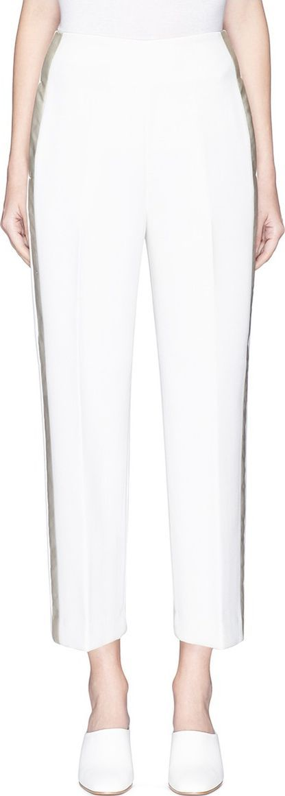 3.1 Phillip Lim Satin outseam cropped suiting pants