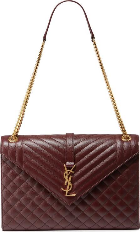 c25ead79d9 Saint Laurent Monogram YSL V-Flap Large Tri-Quilt Envelope Chain Shoulder  Bag -