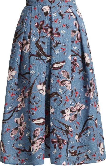 Erdem Ina floral-print cloqué midi skirt