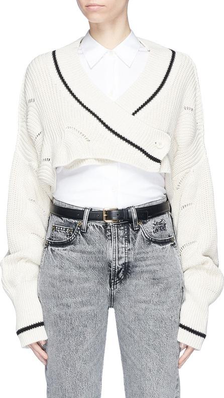 Aalto 'Bolero' cropped rib knit cardigan