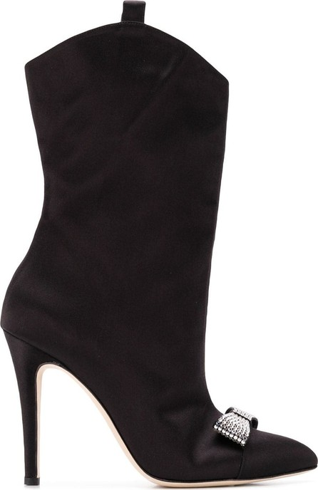 Alessandra Rich Embellished bow boots