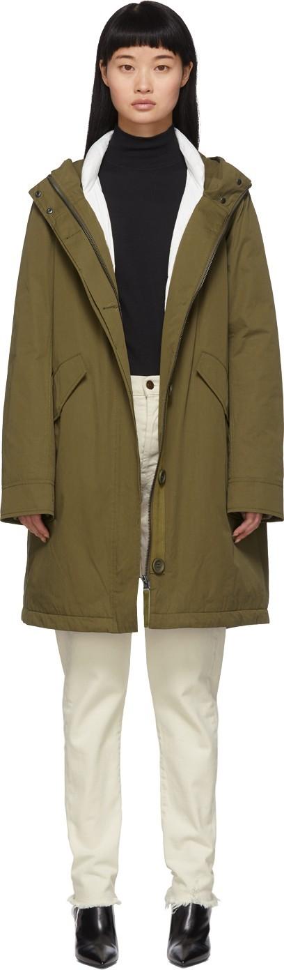 Army By Yves Salomon Green Down Bachette Jacket