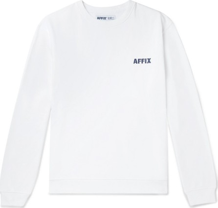Affix Logo-Embroidered Fleece-Back Cotton-Jersey Sweatshirt