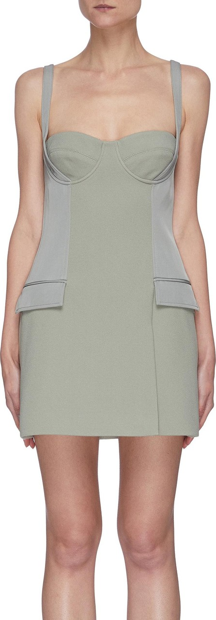 Dion Lee Panelled bustier sleeveless mini dress