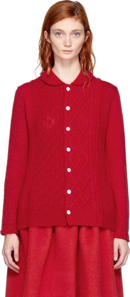 Tricot Comme des Garçons Red Multi Knit Cardigan