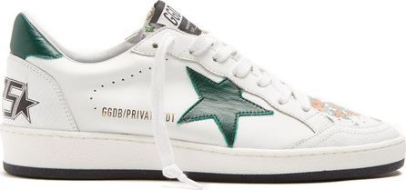 Golden Goose Deluxe Brand Ball Star low-top floral-print leather trainers