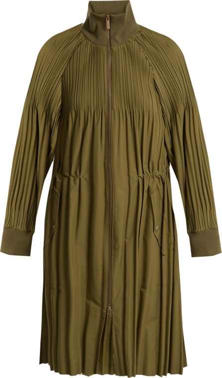 Pleats Please By Issey Miyake Jaunty long-line pleated bomber jacket