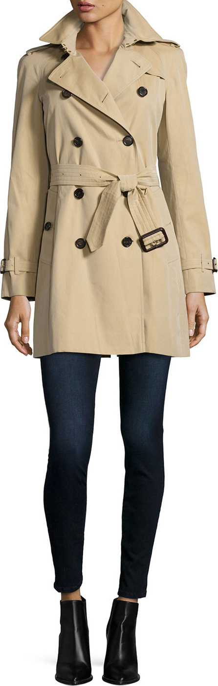 Burberry London England The Westminster - Mid-Length Classic Fit Heritage Trench Coat, Honey