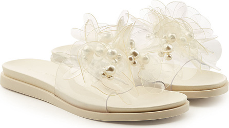 Simone Rocha Beaded 3D Flower Sandals