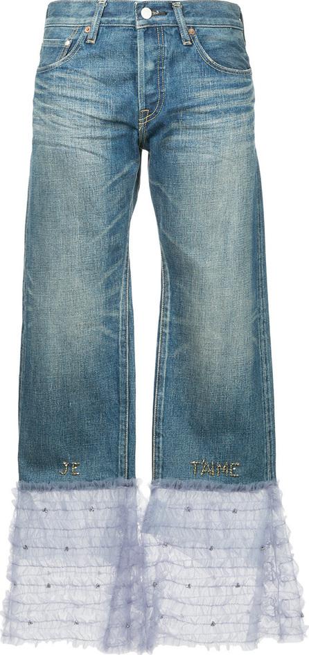 Tu Es Mon Tresor Tulle frill hem boyfriend jeans