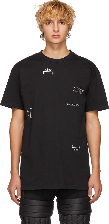 A-Cold-Wall* Black 'National Gallery' Multi Logo T-Shirt