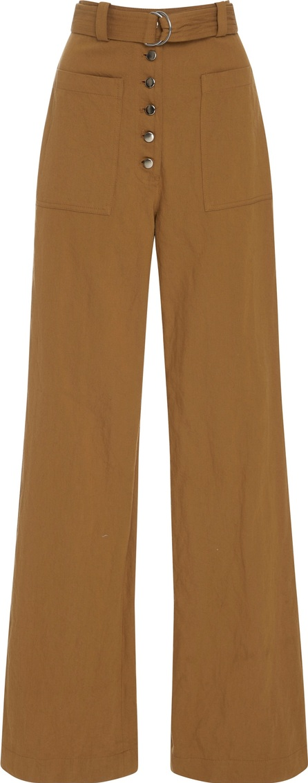 A.L.C. Linen and Silk-Blend Twill Wide-Leg Pants
