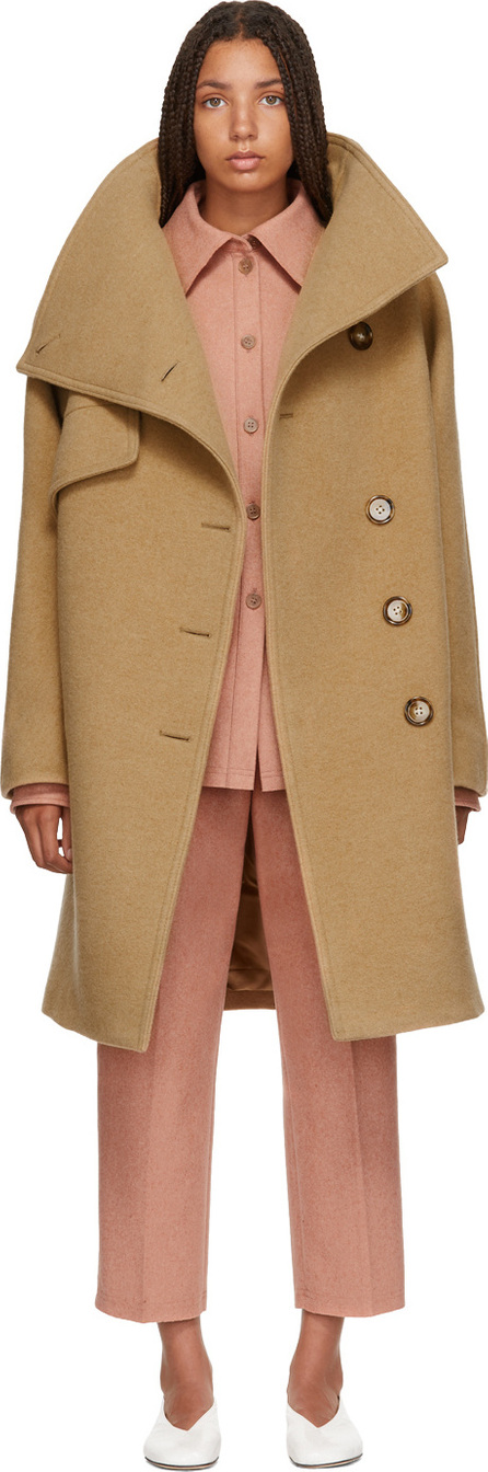 Acne Studios Brown Asymmetrical Button Coat