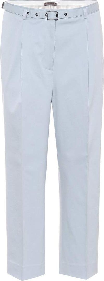 Bottega Veneta Stretch-cotton cropped trousers