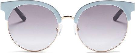 Matthew Williamson Metal rim aluminium browline sunglasses