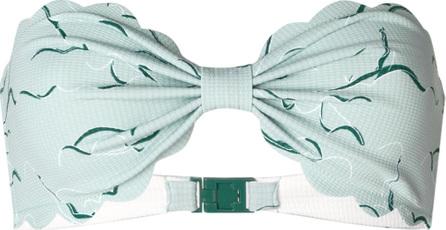 Marysia Printed scalloped trim bikini top