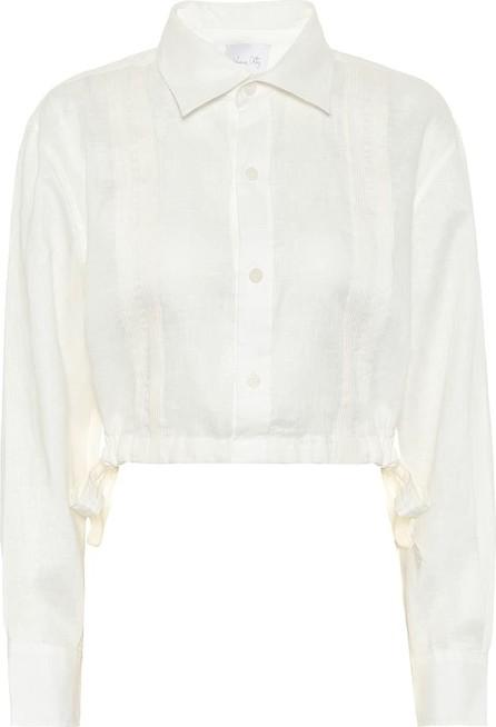 Johanna Ortiz Cuban Towns cropped linen shirt