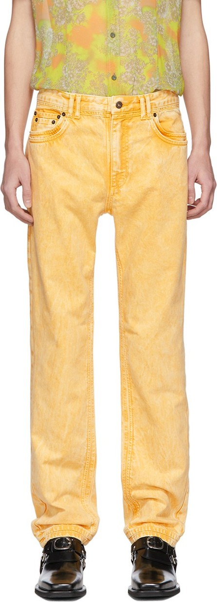 Y/Project Yellow Denim Double Seam Jeans