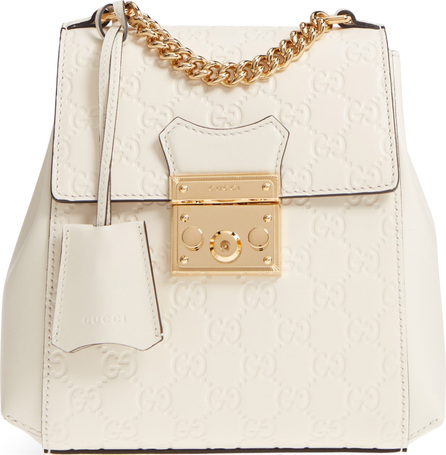 Gucci GG Supreme Leather Padlock Backpack