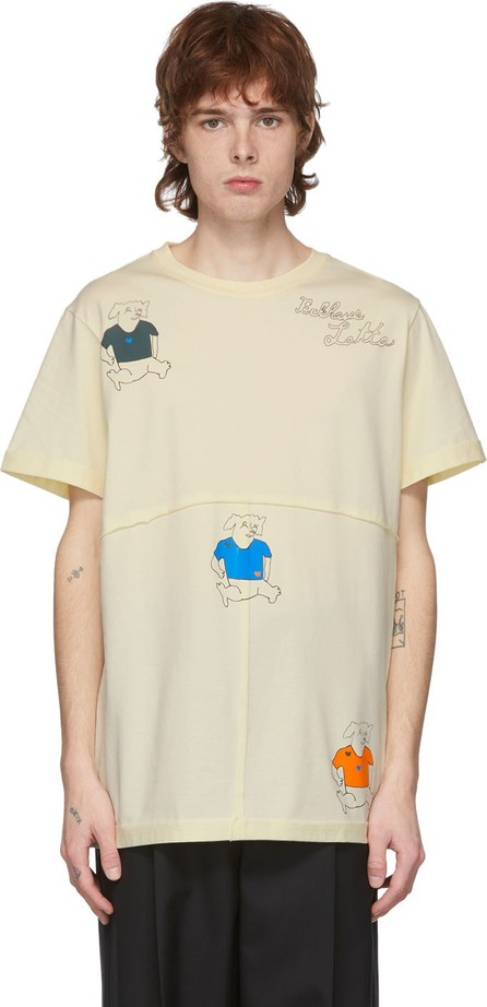 Eckhaus Latta Yellow Three Dogs T-Shirt