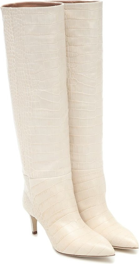 Paris Texas Exclusive to Mytheresa – croc-effect leather knee-high boots