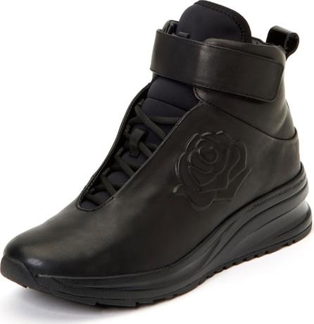 Taryn Rose Zanna Rose-Embossed High-Top Sneakers
