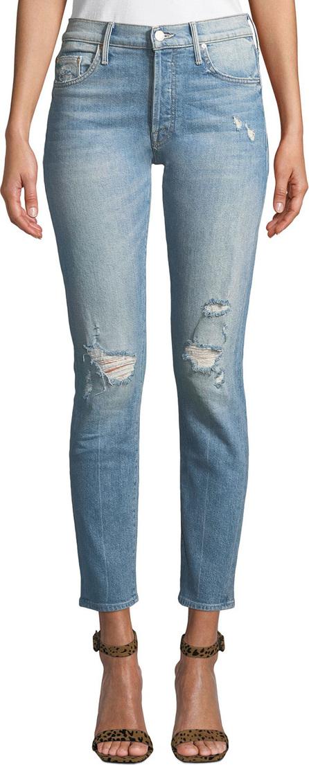 MOTHER The Stinger Flood Distressed Ankle Skinny Jeans