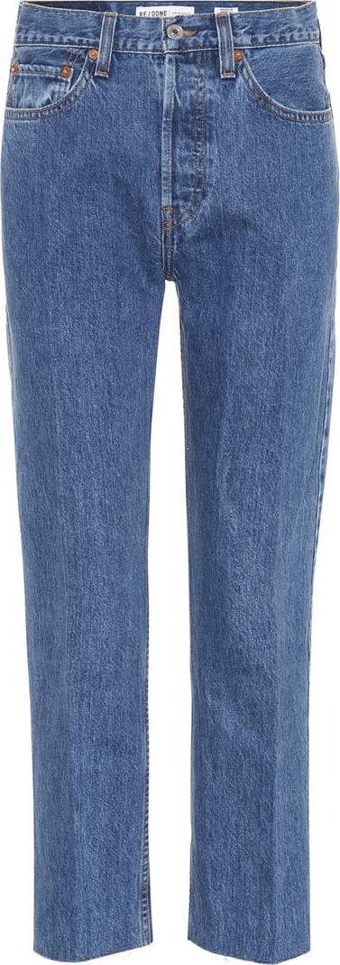 RE/DONE Stovepipe high-waisted jeans