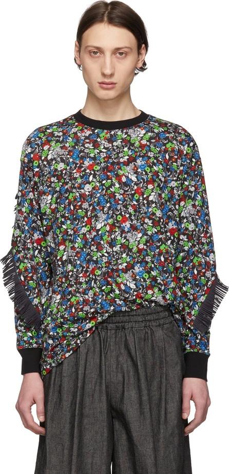 FACETASM Black & Multicolor Fringes T-Shirt
