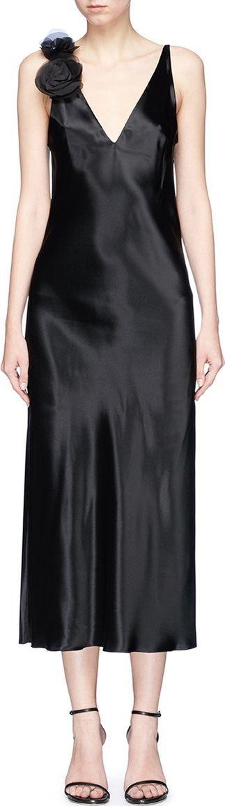 Lanvin Organza rose satin slip dress