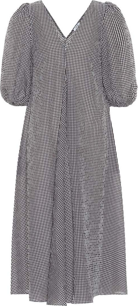Ganni Charron cotton-blend midi dress