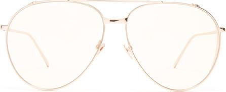 Linda Farrow Aviator rose gold-plated sunglasses