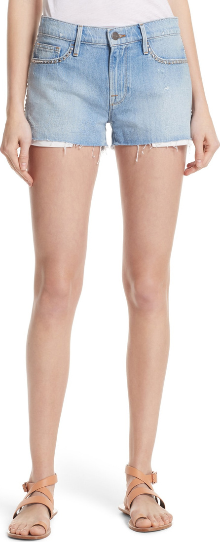 FRAME DENIM Le Studded Denim Shorts
