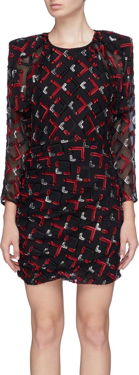 Carmen March Geometric fil coupé dress