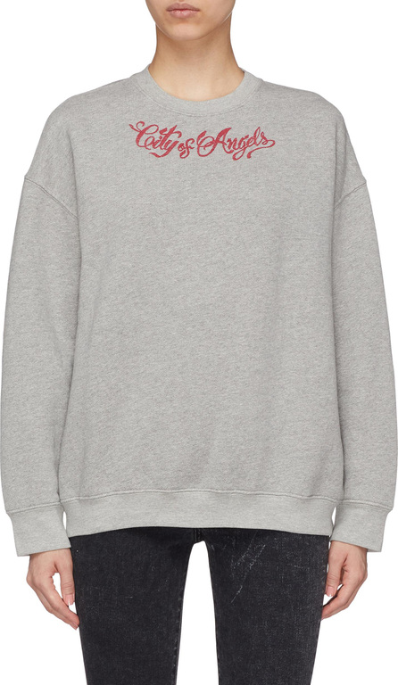 Adaptation 'City of Angels' graphic embroidered sweatshirt