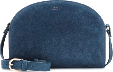 A.P.C. Demi Lune suede shoulder bag