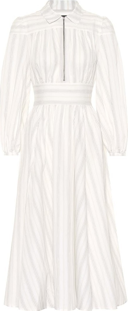 Alexachung Striped cotton shirt dress