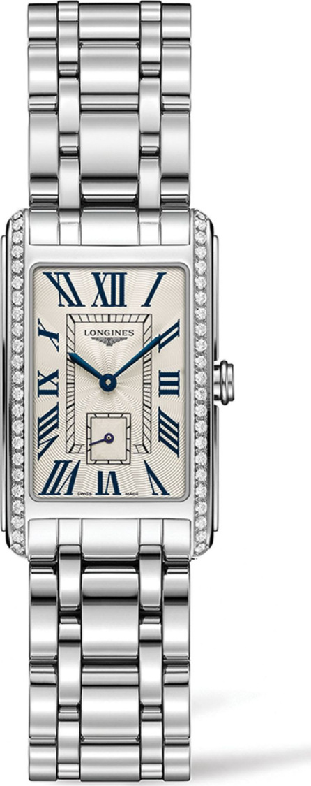 Longines DolceVita Stainless Steel Bracelet Rectangle Watch