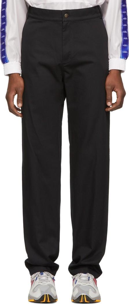 Anton Belinskiy SSENSE Exclusive Black Logo Tape Trousers