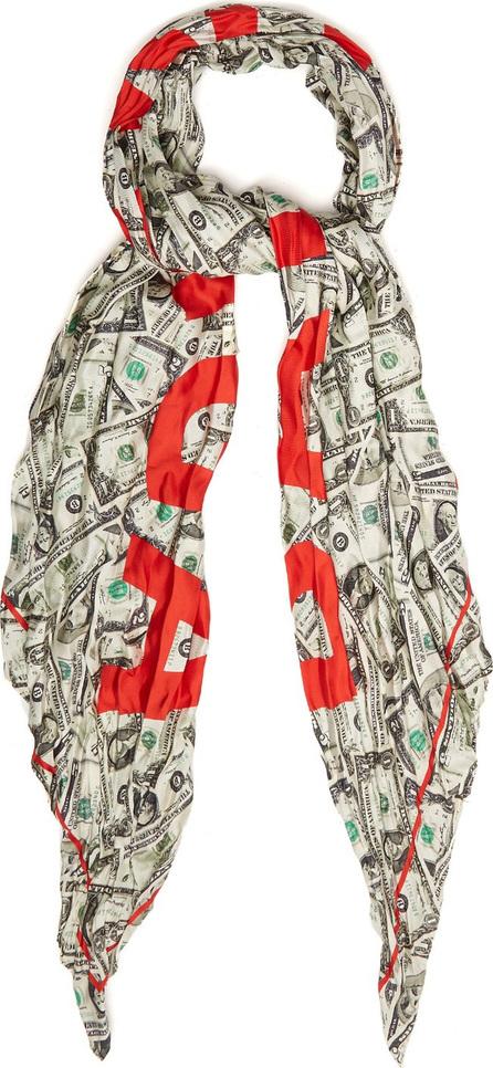 Balenciaga Dollar Bill-print silk scarf