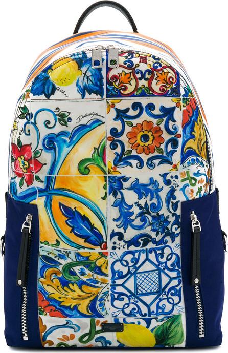 Dolce & Gabbana Sicilian print backpack