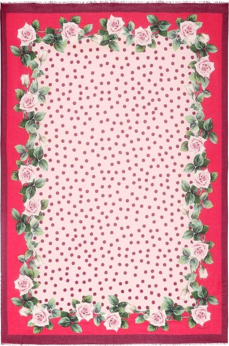Dolce & Gabbana Floral and dotted scarf