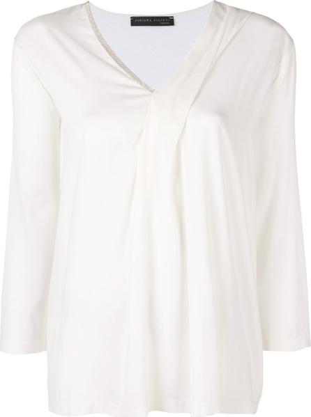 Fabiana Filippi Three-quarters sleeves draped blouse