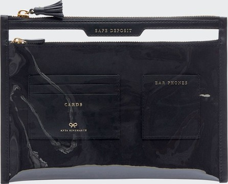Anya Hindmarch Safe Deposit Clear Zip Pouch Bag