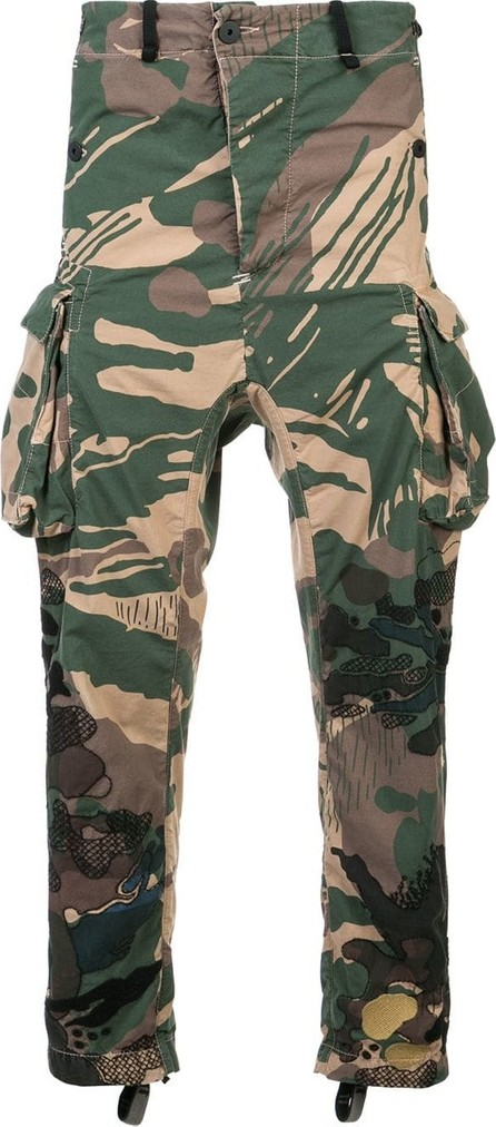 11 By Boris Bidjan Saberi Camouflage print cargo pants
