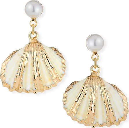 Auden Lala Shell-Drop Earrings