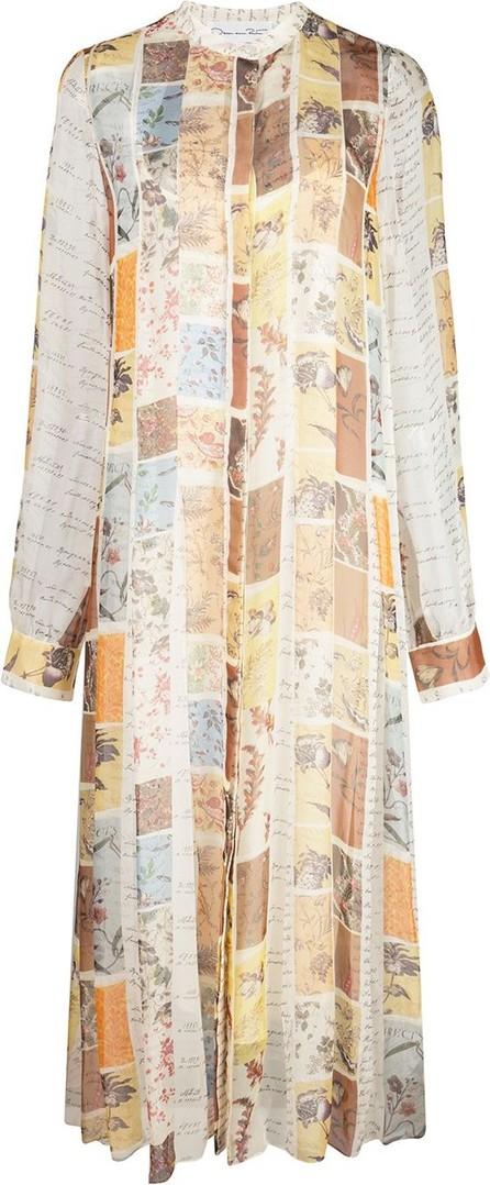 Oscar De La Renta Patchwork floral shirt