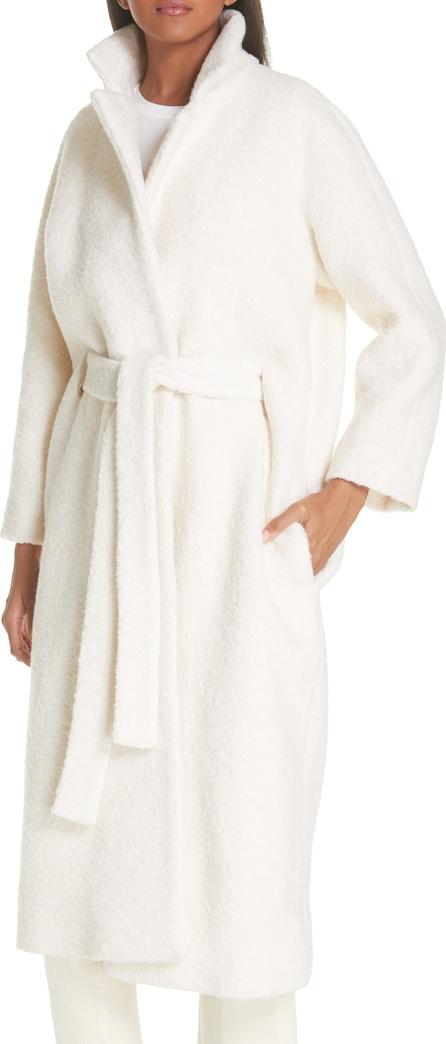 Ganni Fenn Belted Wool Blend Coat