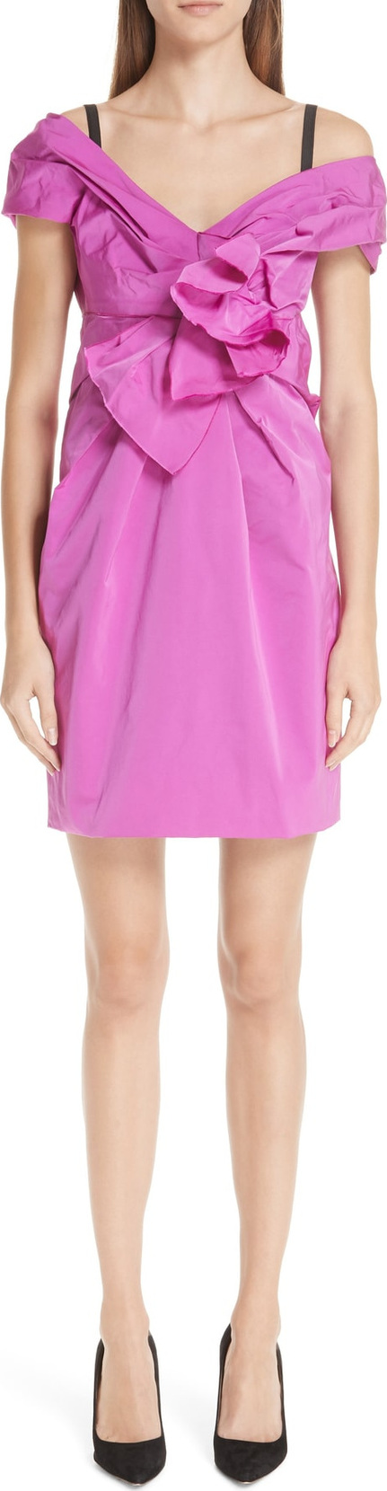 MARC JACOBS Taffeta Off the Shoulder Dress